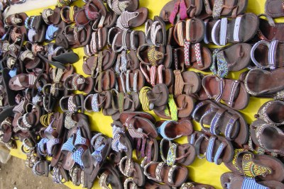 Leather sandals at Maasai Market, Nairobi