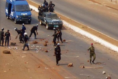 Security forces clashed with protestors in Conakry. (file photo)