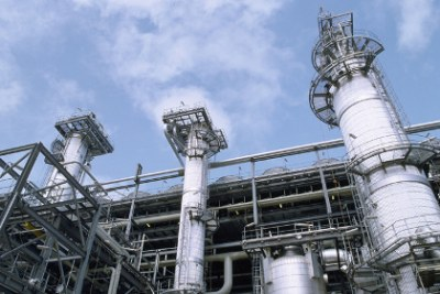 A liquefied natural gas plant in Nigeria.