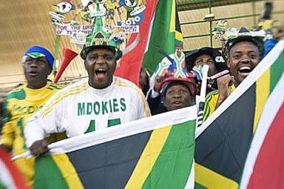 South African soccer fans are gearing up for the World Cup.