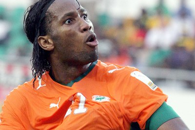Didier Drogba in action.