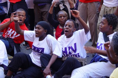 Members of the Treatment Action Campaign during a protest (file photo).