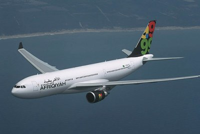 Afriqiyah Airways, based in Tripoli, Libya.