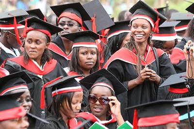 A university graduation ceremony.
