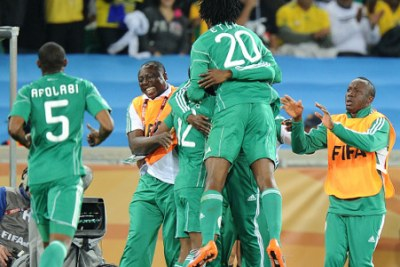 The Super Eagles at the 2010 World Cup in South Africa.