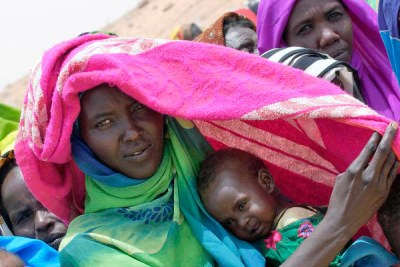 Sudanese refugees in Iridimi Camp in Chad.