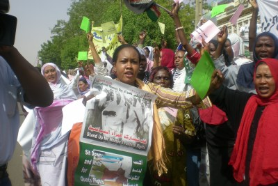 Sudanese women protesting for their political rights (file photo).