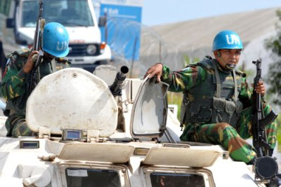 Peacekeepers secure UN offices during unrest in Abidjan.