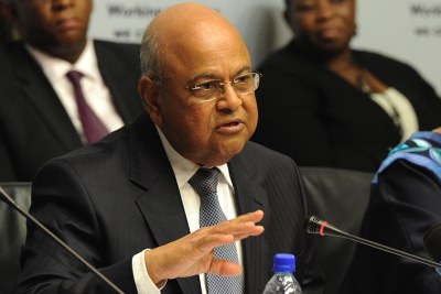 Finance Minister Pravin Gordhan.