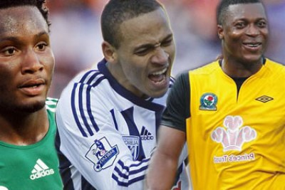 The Nigeria EPL's trio of Mikel Obi, Osaze Odemwengie and Yakubu Aiyegbeni