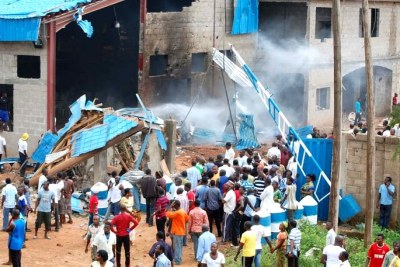 AFtermath of Kaduna church blast