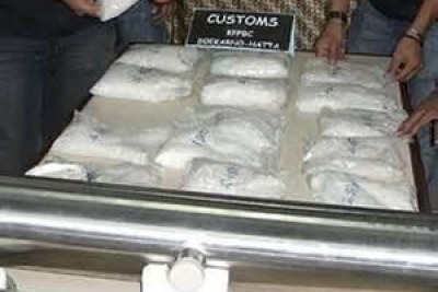 Police have confiscated 55,000 kilos of illegal drugs.