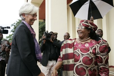 2013 IMF Managing Director Christine Lagarde visits Malawi
