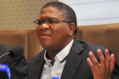 South African Sports Minister Fikile Mbalula (file photo).