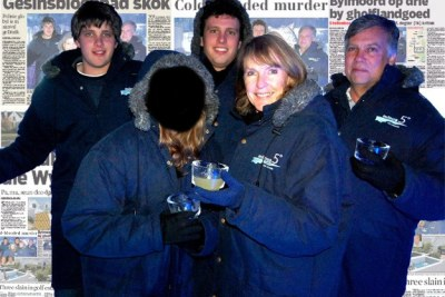 Martin and Teresa van Breda with their daughter, Marli, 16, and sons, Henri, 20, left, and Rudi, 22, on a family holiday posted on Facebook.