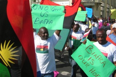 Biafra protesters.