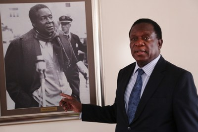 Former vice president Emmerson Mnangagwa (file photo).