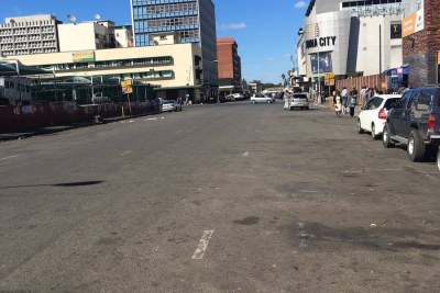 The streets of Harare look empty after residents heed the call to stay away in 2016 (file photo).