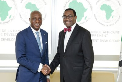 From left to right - Mr. Oscar Onyema Oon (CEO of the Nigerian Stock Exchange and President of ASEA) and Dr. Akinwumi A. Adesina (President of AfDB). Prior to signing a new 5-year MoU on July 11 2016, the Bank and African Securities Exchanges Association (ASEA) were successfully collaborating on the African Exchanges Linkage Project, which they co-initiated to improve liquidity and foster greater investments and trading across markets.