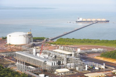 Liquefied natural gas (LNG) project.