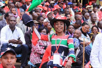Jubilee Party supporters at Safaricom Kasarani Stadium.