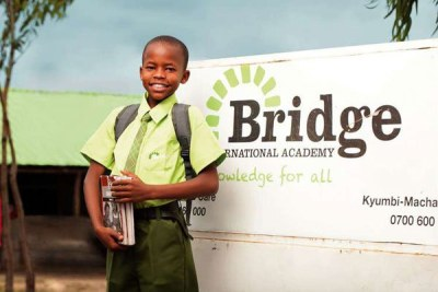 A pupil at Bridge International Academy in Nairobi.