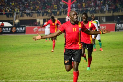 Geoffrey Massa celebrates scoring a goal (file photo).