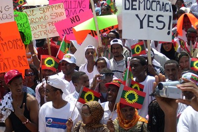 Oromo protests in Ethiopia (file photo).