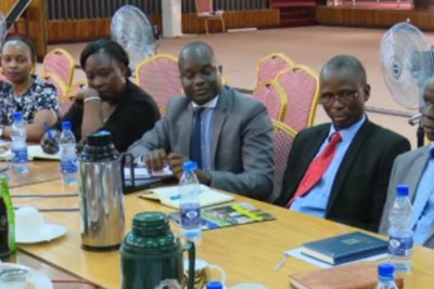 Some of Uganda Revenue Authority Staff who were given the part of controversial Shs6 billion payments known as