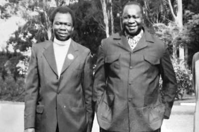 Calm before the storm. Archbishop Luwum (left) with president Idi Amin before the murder.