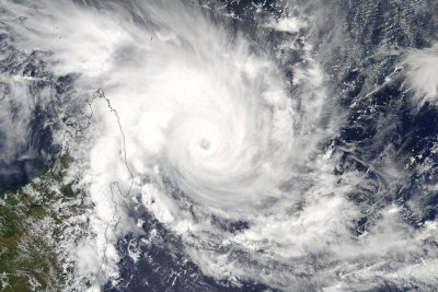 On March 6 at 10:10 UTC (5:10 a.m. EST) NASA's Aqua satellite captured this visible image of Tropical Cyclone Enawo approaching Madagascar.