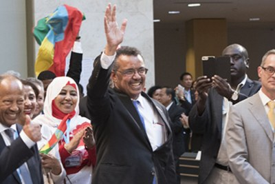 The new head of the World Health Organization, Tedros Adhanom Ghebreyesus.