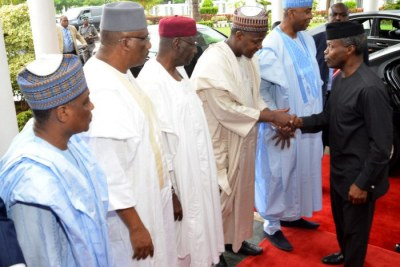 Acting President Yemi Osinbajo meets northern leaders (file photo).