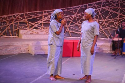 The crew of Chibok Girls at the recent Ubumuntu Arts Festival.