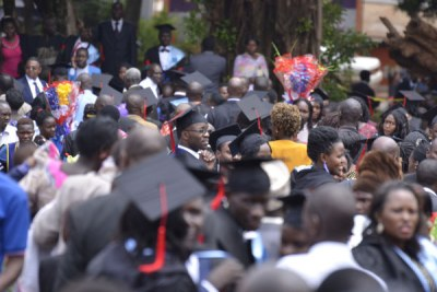 Graduates at Makerere University in February.