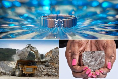 Africa is rich in mineral resources such as diamonds.