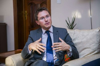 William Gelling, the British ambassador to Rwanda.