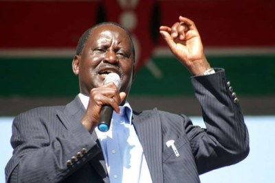 Nasa leader Raila Odinga.