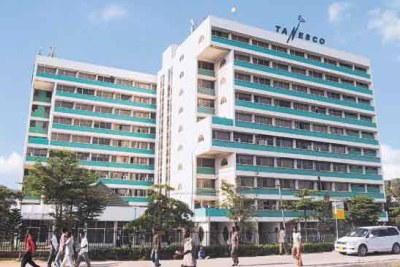 The headquarters of the state-owned electricity supply firm Tanesco in Dar es Salaam.