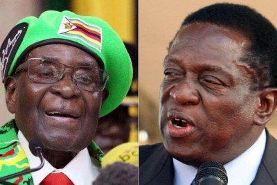 President Robert Mugabe, left, has been displaced by his long-time comrade-in-arms, Emmerson Mnangagwa.