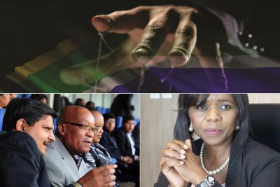 Top: Title image of former public protector Thuli Madonsela's