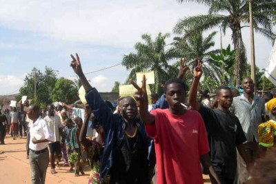 Protest in Kasai (file photo).