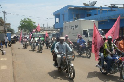 An opposition rally in the capital, Lome (file photo).