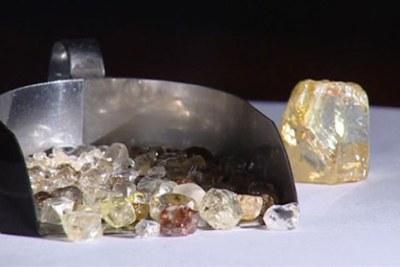 Du diamant extrait des sous-sols africains