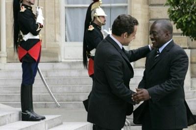 Le Président Joseph KABILA et son homologue Nicolas Sarkozy lors d'une visite en France
