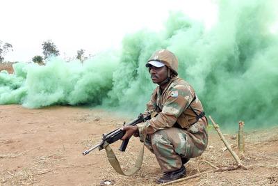 Un soldat sud africain