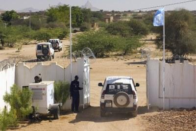 UN peacekeepers on patrol.