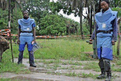 Members of the Handicap International demining team in Casamance