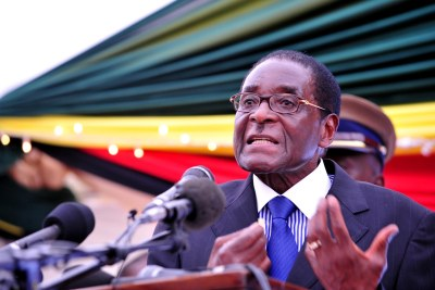 File photo: President Robert Mugabe.