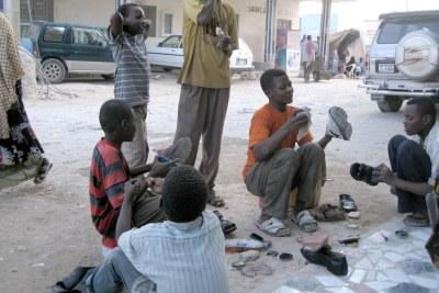 Des enfants de la rue à Bosasso